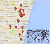 program, map and calendar of the Auroville Festival