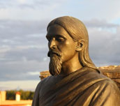 yet another statue of Sri Aurobindo