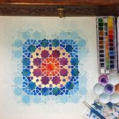New Creative Session at CREEVA! – Watercolour Geometry with Gino
