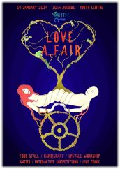 The LOVE A_FAIR ! Saturday the 19th January at the Youth Center!