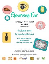 Generosity Fair at Unity Pavilion!