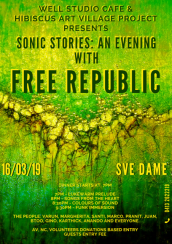 Sonic stories: An evening with Free Republic at Well cafe, Svedame