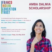 FRANCO INDIAN EDUCATION TRUST – CALL FOR APPLICATIONS // AMBA DALMIA SCHOLARSHIP 2019
