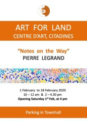 "Exhibition ""NOTES ON THE WAY"" by  Pierre Legrand"