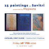 Paintings on Savitri presented by Mayaura