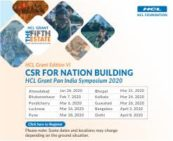 HCL Grant Edition VI Symposium – CSR for Nation Building, Pondicherry