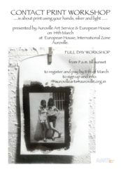 Contact Print Workshop