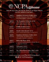 Watch NCPA concerts at home